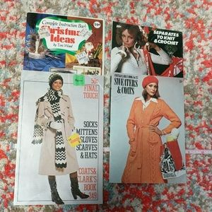Vintage 70s Booklets Crafts Crochet Knitting Book